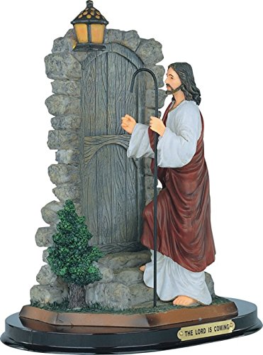 """Major-Q G90312.62 12"""" H Resin The Lord is Coming Jesus Knocking at Door Holy Religious Figurine Statue"""