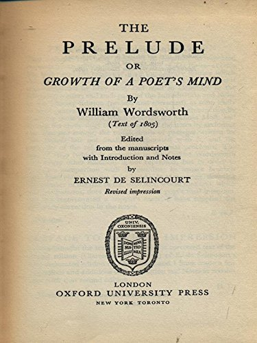 Gloss Prelude (William Wordsworth: The Prelude, 1805: Edited from the Manuscripts and Illustrated, with an Introduction, Maps, Notes, Glosses, and Chronology)