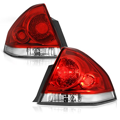 VIPMOTOZ For 2006-2013 Chevy Impala & Limited Model OE-Style Red Lens Tail Light Housing Lamp Assembly Replacement Driver & Passenger Side