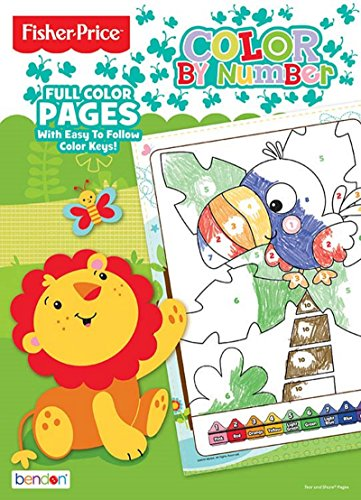 Bendon Fisher-Price 48-Page Color by Number Coloring Book wi
