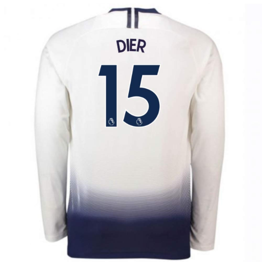 2018-2019 Tottenham Home Long Sleeve Nike Football Soccer T-Shirt Trikot (Eric Dier 15)
