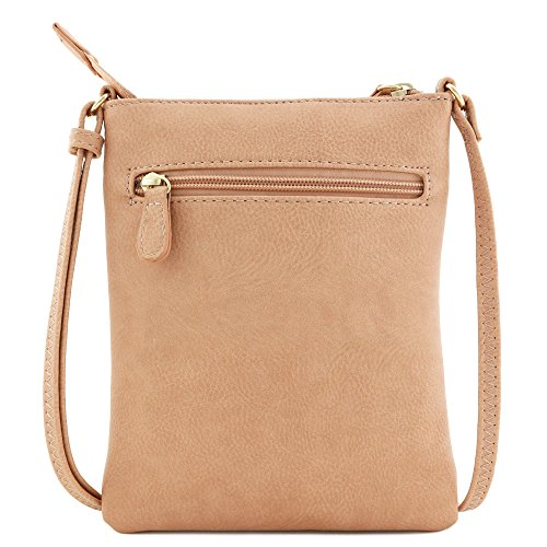 Small Rose Front Half Pocket Crossbody Pink moon Bag Zipper zSISxCZ