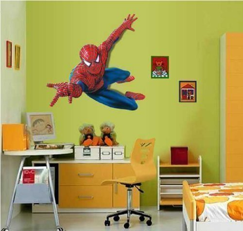 Hero Spiderman Grand sticker mural Spiderman pour chambre d'enfant Domire