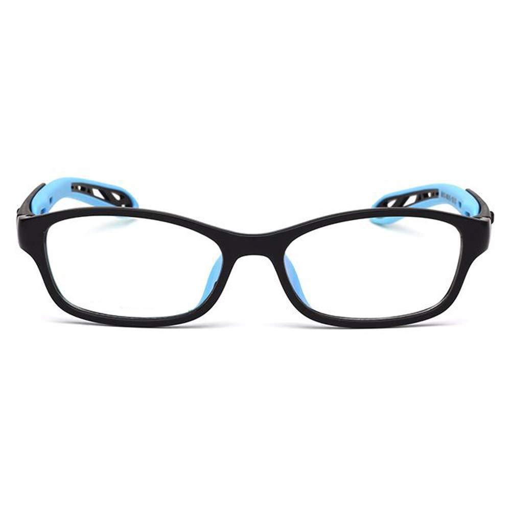 Fantia Unisex child Non-prescription Glasses Frame Clear Lens Kids Eyeglasses Blue