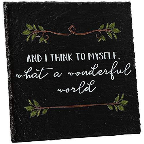 - Carson Wonderful World Slate Easel Plaque