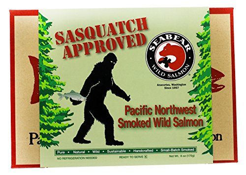 SeaBear Sasquatch Approved Smoked Wild Salmon, Pacific Northwest, 6 Ounce