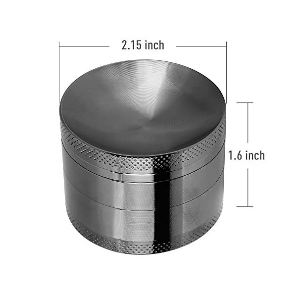 Anpro Premium Aluminum Grinder with Sifter and Magnetic Top for Dry Herb and Tobacco with Better Quality – 4 Pieces 2.15 Inches (55mm)