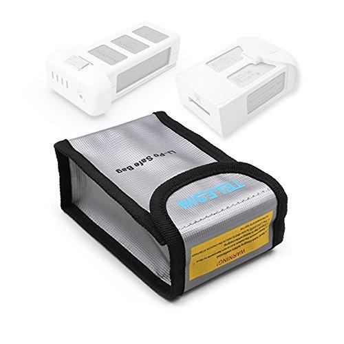 TELESIN Lipo Safety Guard Fire Resistant Lipo Battery Safe Bag for DJI Phantom 3 Phantom 4 Battery Charging & Storage (Battery Storage)