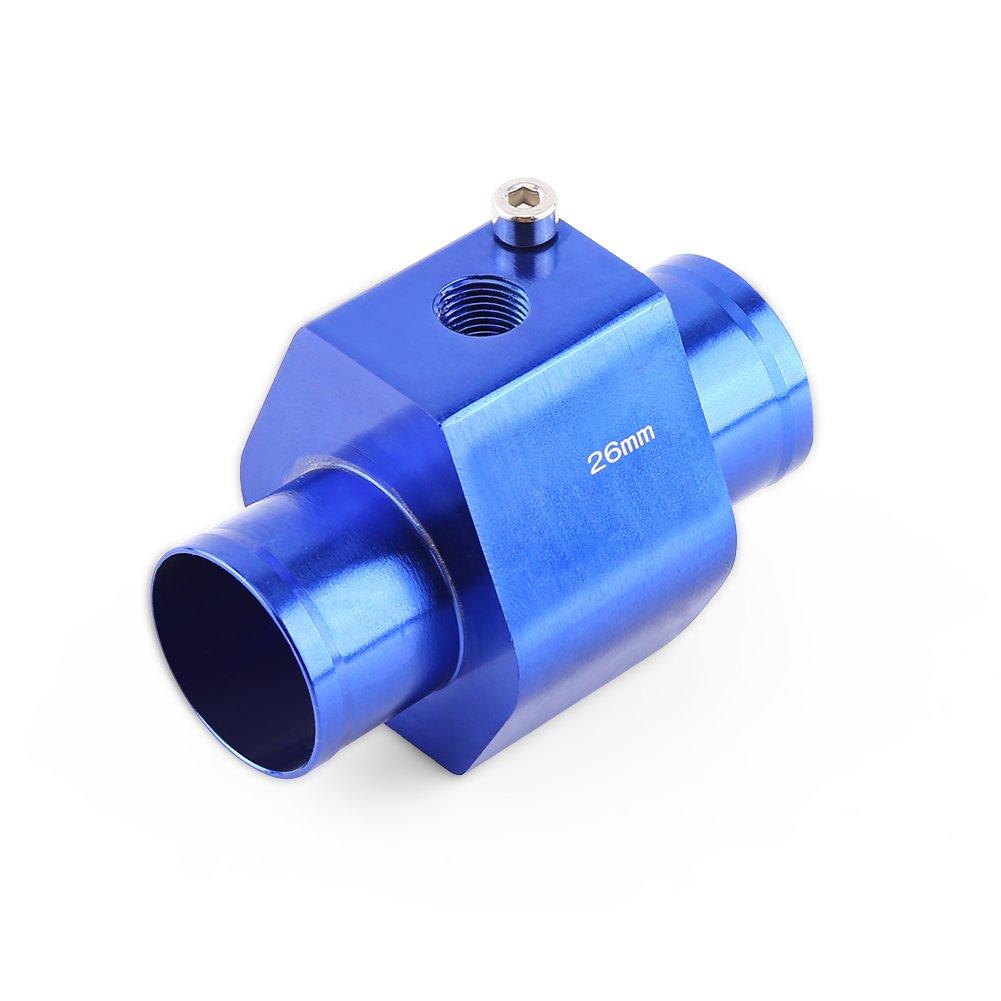 Calibro universale per tubo acqua Tubo per giunto Temperatura acqua Tubo flessibile per giunto Tubo flessibile per radiatore Adattatore Alluminio 40mm 32mm blu 26mm