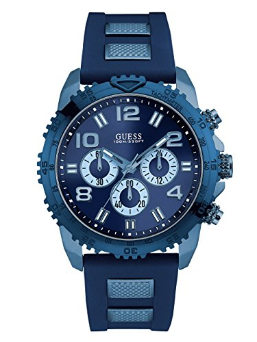 GUESS-Mens-Blue-Oversized-Chronograph-Watch