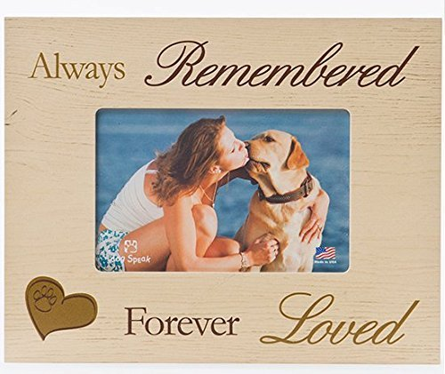 DOG MEMORIAL PICTURE FRAME: Always Remembered - Forever Loved