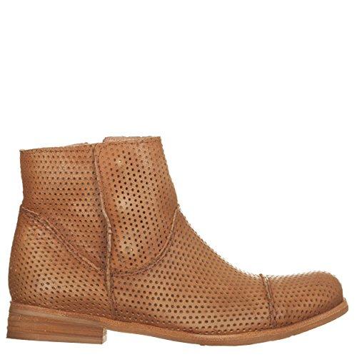 Ankle Boots Traforati, Cuoio Chiaro Cuoio, 37