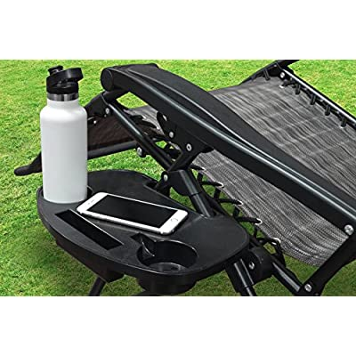 Caravan Sports GCH01051 Side Table and Cup Holder, Black : Garden & Outdoor