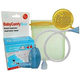BabyComfy Nasal Aspirator - The Snotsucker - Hygienically & Safely Removes Baby's Nasal Mucus (Blue)