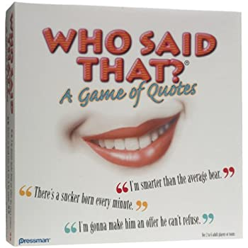 Who Said that? A Game of Quotes Board Game