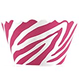 Bella Couture Zebra Pink Cupcake Wrappers