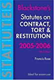 Statutes on Contract, Tort and Restitution 2005-2006, Rose, F. D., 0199283206
