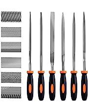 Needle File Set, 6PCS Premium Hand Metal Files, High Carbon Steel File Handles Multipurpose for Metal Wood Plastic Wood Carving Craft Tool