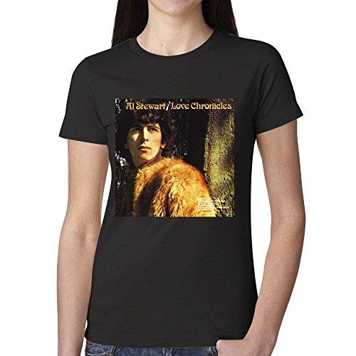 (Al Stewart Love Chronicles T Shirts For Women Black)