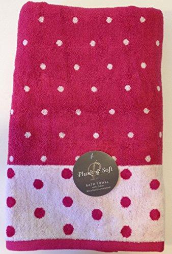 Plush & Soft Polka Dot Bath Towel 100% Cotton 30
