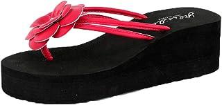 Femme Escarpin,Plate-Forme pour Femmes Pantoufles de Bain Wedge Beach Slope Flops Chaussons de Plage,Sandales KA181212BA1471