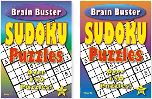 Brain Buster Sudoku Puzzles Volume 11 and 12