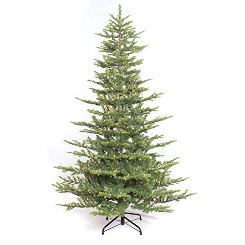 (Puleo International 7.5-Foot Aspen Fir with 700 Warm White Lights Artificial Christmas Tree, Ft, Green )