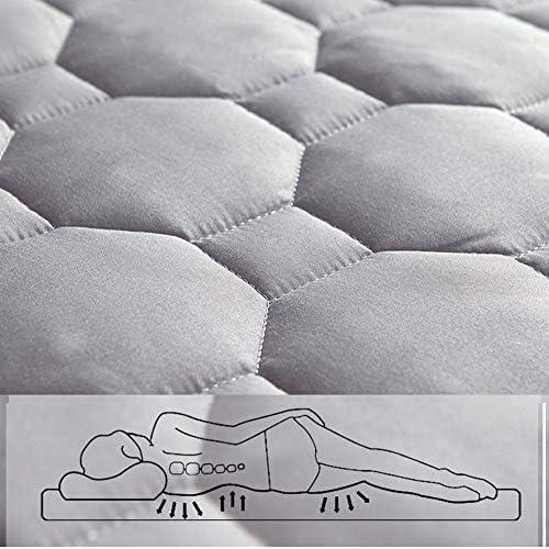 Literie Couvre-Matelas Matelassé - Couvre-Matelas, Extra Profond, Non Étanche Toutes Les Tailles, avec Une Paire De Protège-Oreillers (Gris),180x200cm+20cm