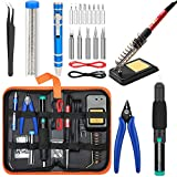 Soldering Iron Kit Electronics [Upgraded], Yome 15-in-1 60w Adjustable Temperature Soldering Iron with ON/OFF Switch,...