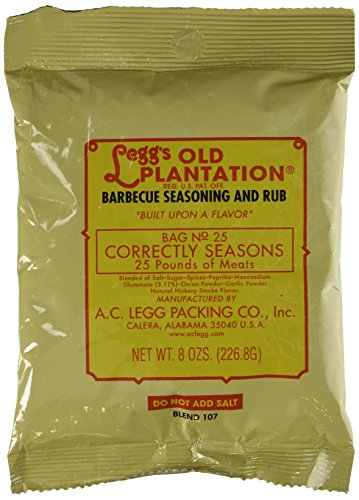 - A.C. Legg - Barbecue Seasoning and Rub - 8 Ounce