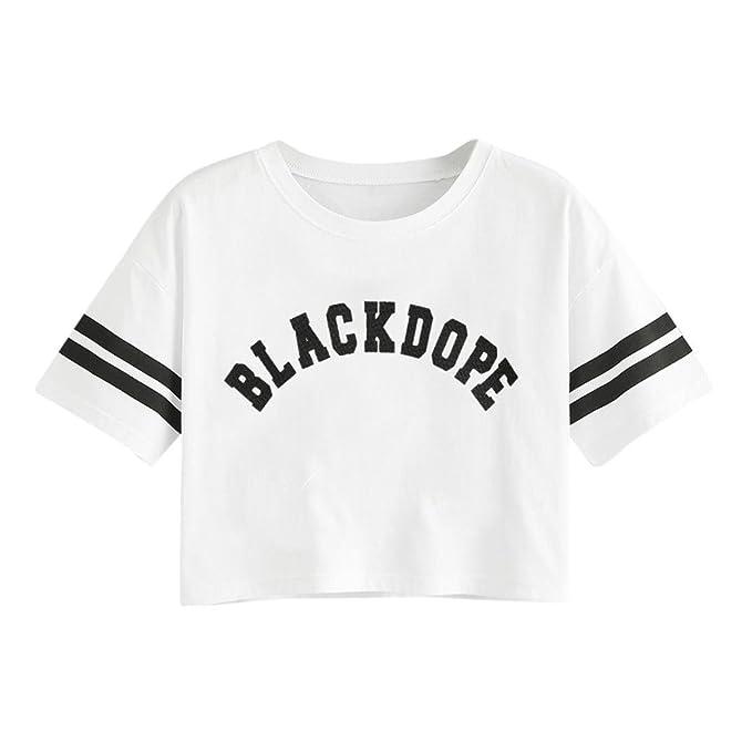 ❤ Camiseta Casual para Mujer e604bbc36a37f