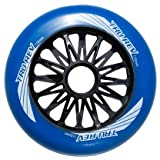 Trurev Blue 110mm Skate Wheels- Outdoor 84A Set of 8 Wheels