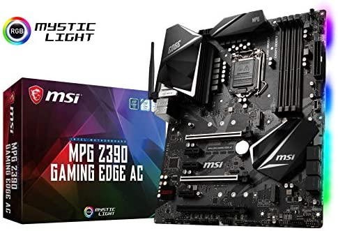 MSI MPG Z390 Gaming Edge AC LGA1151 (Intel eighth and ninth Gen) M.2 USB 3.1 Gen 2 DDR4 HDMI DP Wi-Fi SLI CFX ATX Z390 Gaming Motherboard