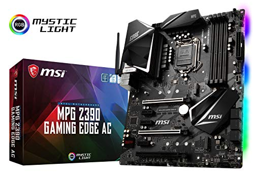 Mainboard Motherboard - MSI MPG Z390 Gaming Edge AC LGA1151 (Intel 8th and 9th Gen) M.2 USB 3.1 Gen 2 DDR4 HDMI DP Wi-Fi SLI CFX ATX Z390 Gaming Motherboard
