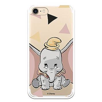 Funda Oficial Disney Dumbo Silueta Transparente para iPhone 7 - iPhone 8 Licencia Oficial de Disney