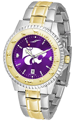 (Linkswalker Mens Kansas State Wildcats Competitor Two Tone Anochrome Watch)