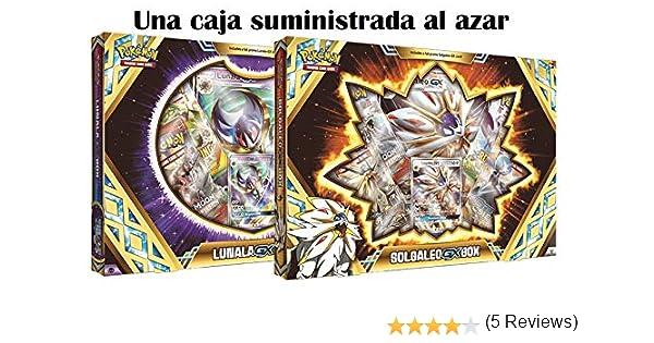 Pokemon JCC Caja Premium Solgaleo/Lunala GX - Español: Amazon.es ...