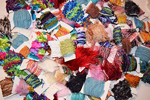 100 yrds 10 Colors Multi Colored Fiber for Embellishments Assorted Novelty Yarn, 10 yrds per Color from JL