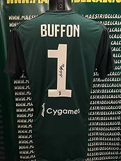 "219f6ec42 JUVE Maglia Gara Home ""Buffon 1"" Autografata Firmata 2018/2019 F.C. Juventus  Partita"