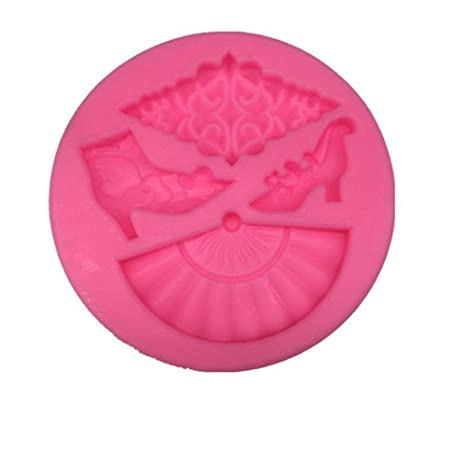 Molde de silicona con forma de mini abanico creativo para ...