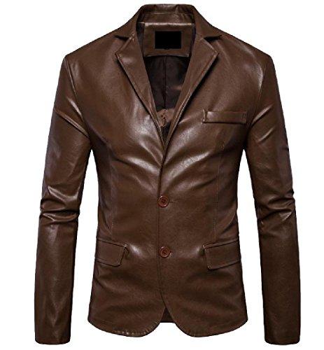 Vogue Leather Blazer - 1
