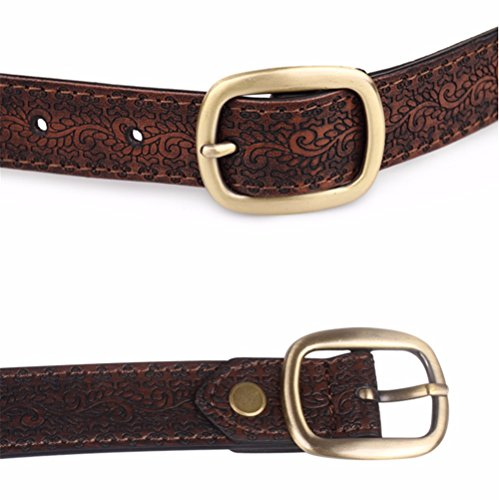 SAIBANGZI Ms Women All Seasons Belt Casual Jeans Belt Fine Fabric Fashion Decorative Belt Girlfriend Present Brown 82-92Cm by SAIBANGZI (Image #2)