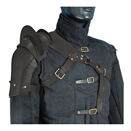 Armor Venue: Warriors Single Pauldron Shoulder Armour Black Large (Chest Plate Armor)