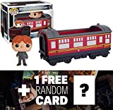 Ron Weasley & Hogwarts Express Carriage: Funko POP! Rides x Harry Potter Vinyl Figure + 1 FREE Official Harry Potter Trading Card Bundle (059736)