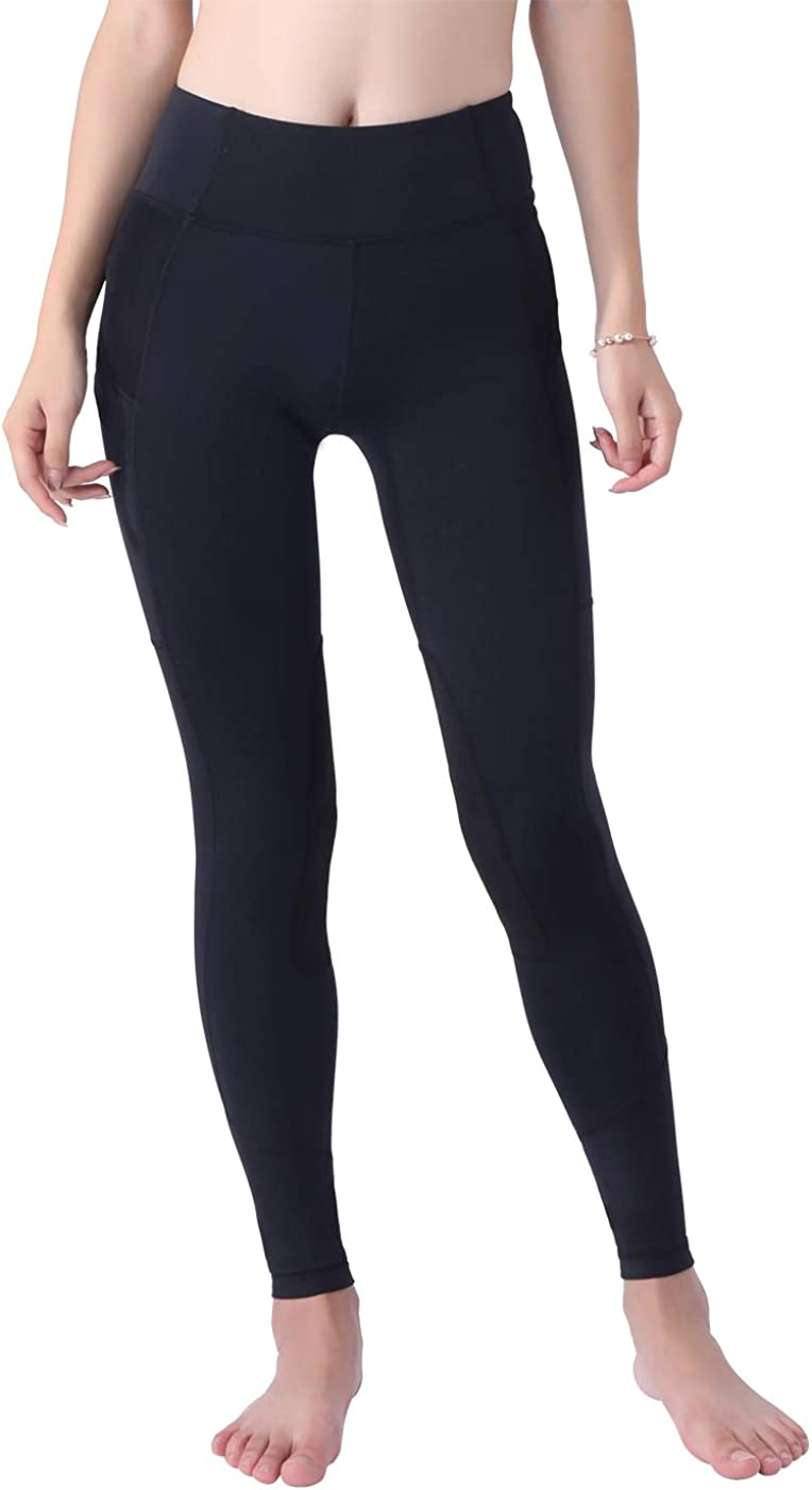 Okay Sports Womens Breathable Horse Riding Tights Knee Patch Grip Equestrian Pants Schooling Riding Breeches
