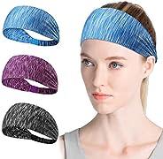 Women Sports Headband Non Slip Elastic Sweat Sports Cross Headbands for Women Girl Wicking Headband Sweatband