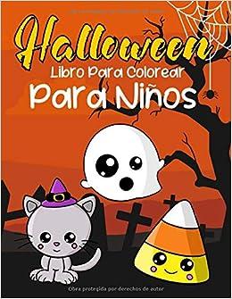 Halloween Libro Para Colorear Para Ninos Animales Bonitos En