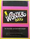 willy wonka chocolate bar - Replica-Laminated 7 oz. Willy Wonka Wrapper (only)-Golden Ticket Sold separate.
