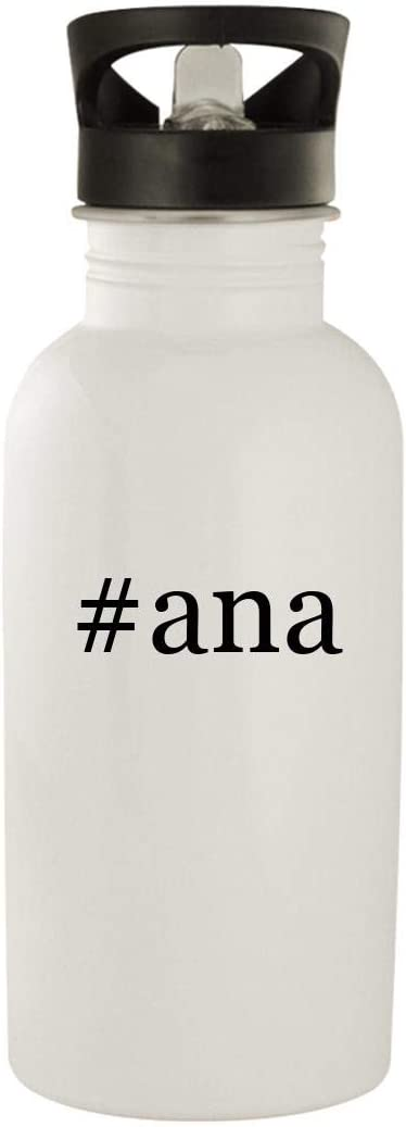 #ana - Stainless Steel Hashtag 20oz Water Bottle, White 5120XfIByxL