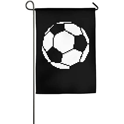 Amazoncom Airealy Soccer Ball Pixel Art Home Garden Flag